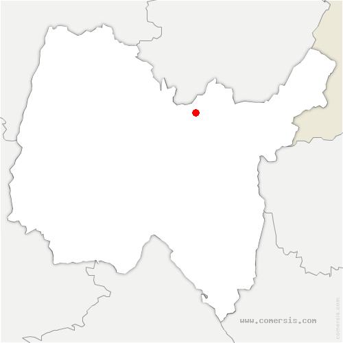 carte de localisation de Matafelon-Granges