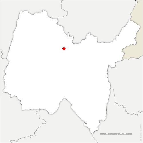 carte de localisation de Meillonnas