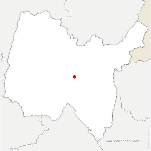 carte de localisation de Mérignat
