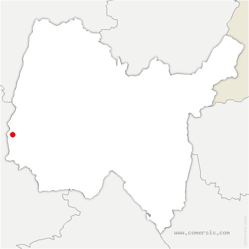 carte de localisation de Messimy-sur-Saône