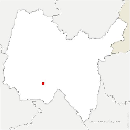 carte de localisation de Meximieux