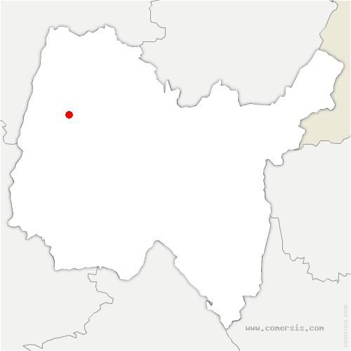 carte de localisation de Mézériat