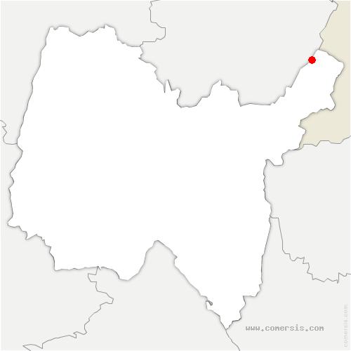 carte de localisation de Mijoux