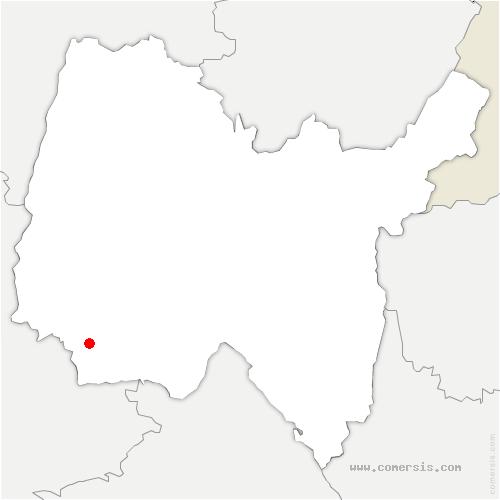 carte de localisation de Mionnay