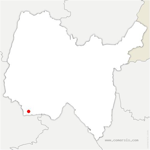 carte de localisation de Miribel
