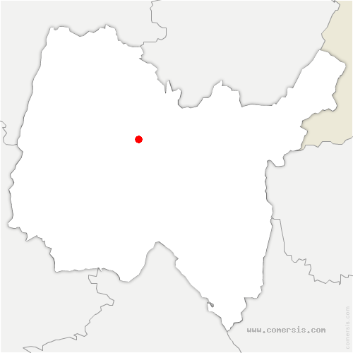 carte de localisation de Montagnat