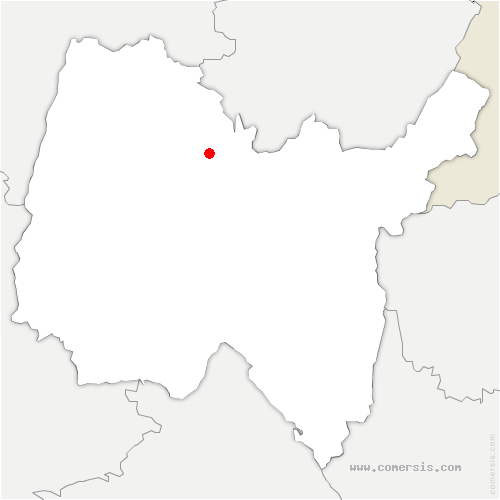 carte de localisation de Montagnieu