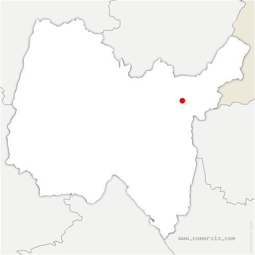 carte de localisation de Montanges