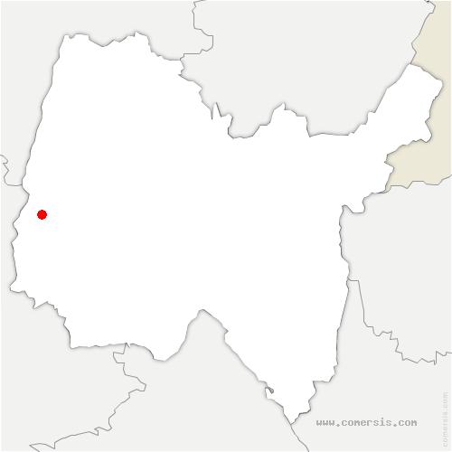 carte de localisation de Montceaux