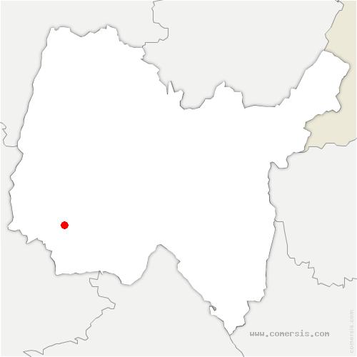 carte de localisation de Monthieux