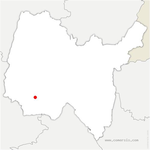 carte de localisation de Montluel