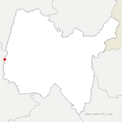 carte de localisation de Montmerle-sur-Saône