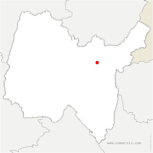 carte de localisation de Nantua