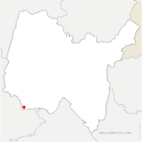 carte de localisation de Neyron
