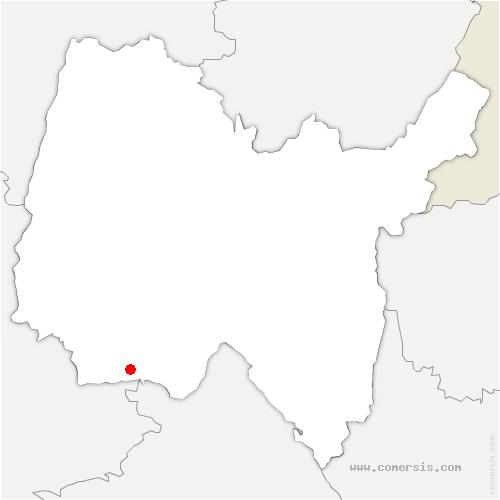 carte de localisation de Niévroz