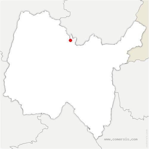 carte de localisation de Nivigne et Suran