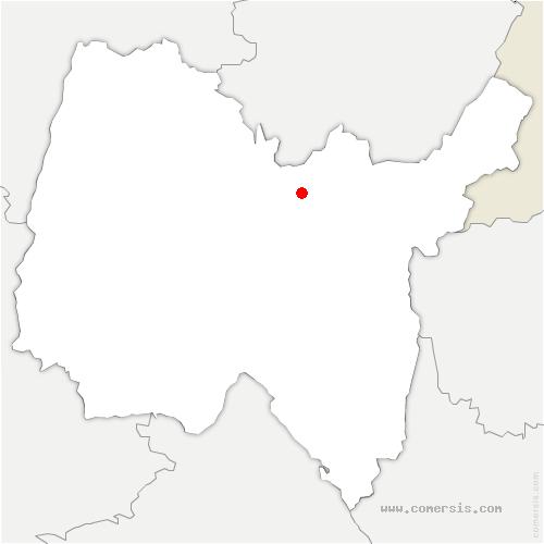 carte de localisation de Nurieux-Volognat
