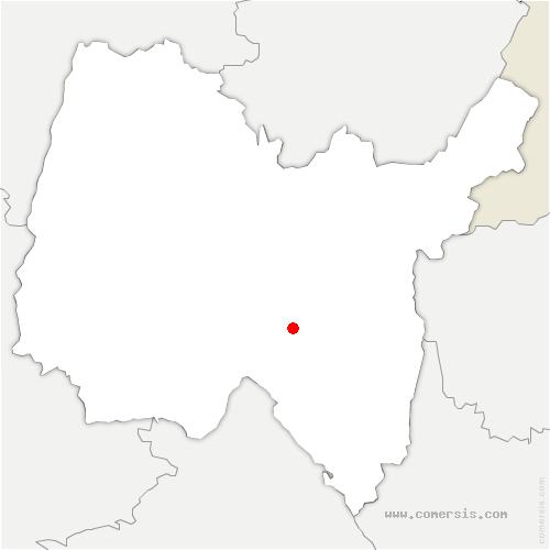 carte de localisation de Oncieu