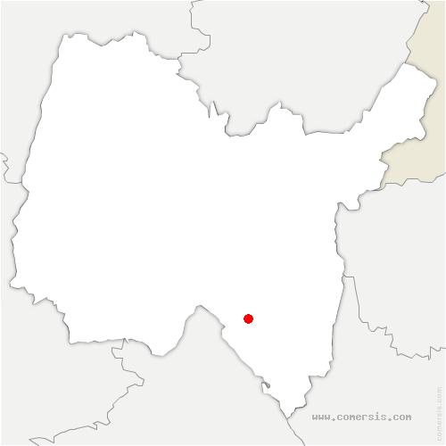carte de localisation de Ordonnaz