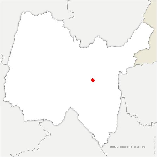 carte de localisation de Outriaz