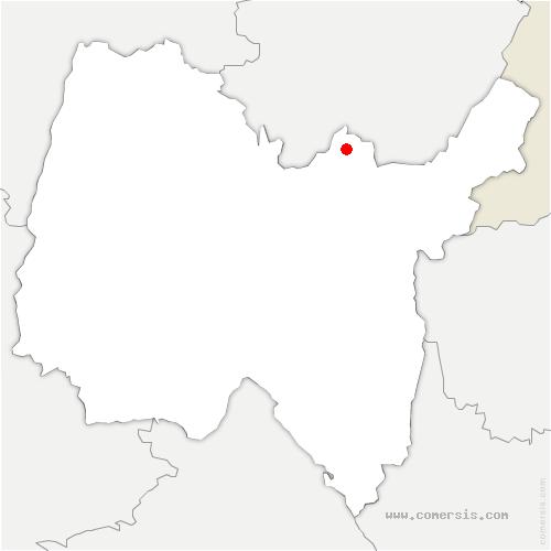 carte de localisation de Oyonnax