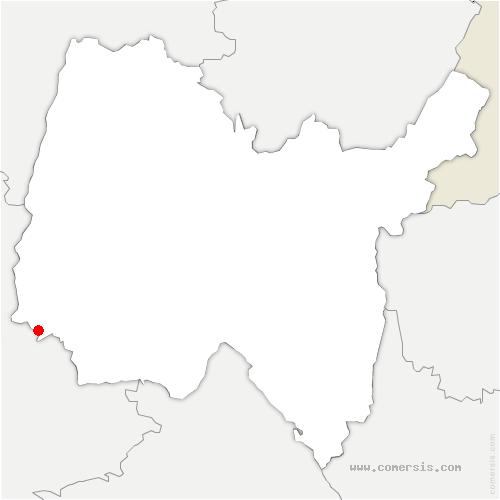 carte de localisation de Parcieux