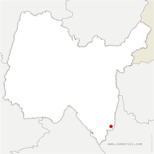 carte de localisation de Parves-et-Nattages