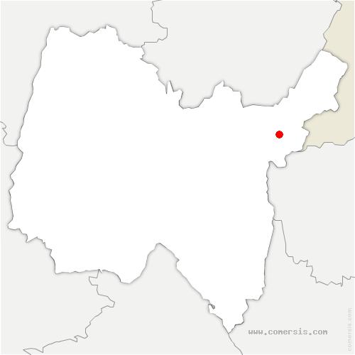 carte de localisation de Péron