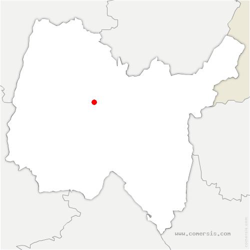 carte de localisation de Péronnas