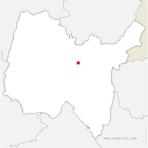 carte de localisation de Peyriat