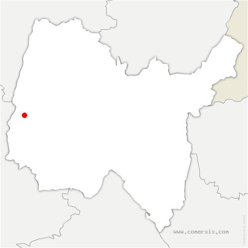 carte de localisation de Peyzieux-sur-Saône