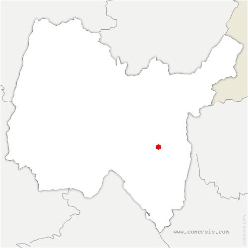 carte de localisation de Plateau d'Hauteville