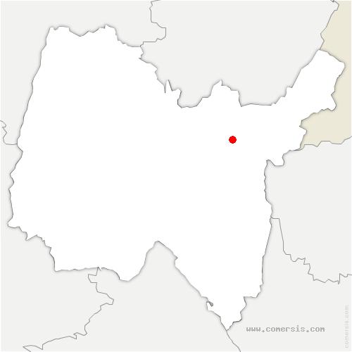 carte de localisation de Poizat-Lalleyriat