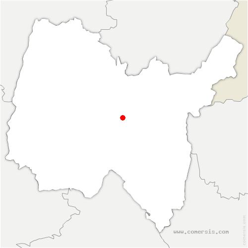 carte de localisation de Poncin