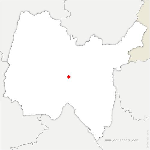 carte de localisation de Pont-d'Ain