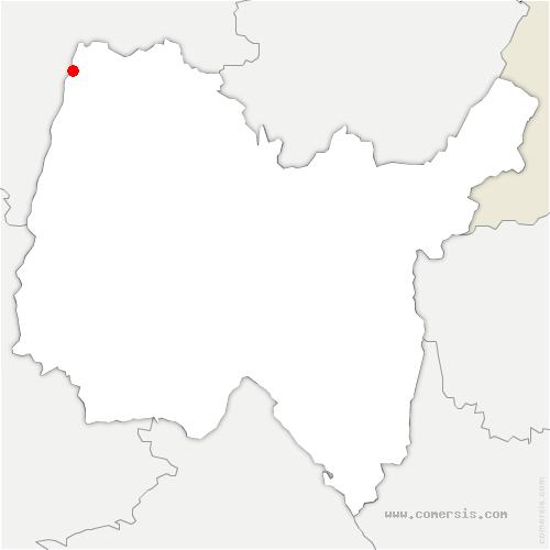 carte de localisation de Pont-de-Vaux