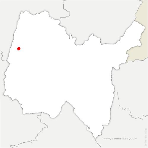 carte de localisation de Pont-de-Veyle
