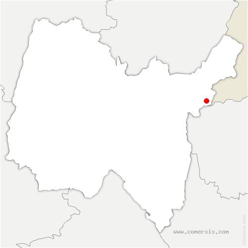 carte de localisation de Pougny
