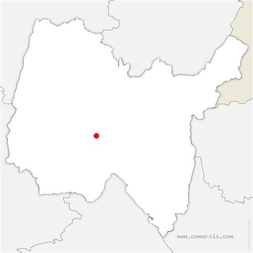 carte de localisation de Priay