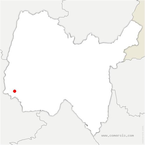 carte de localisation de Reyrieux