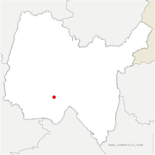 carte de localisation de Rignieux-le-Franc
