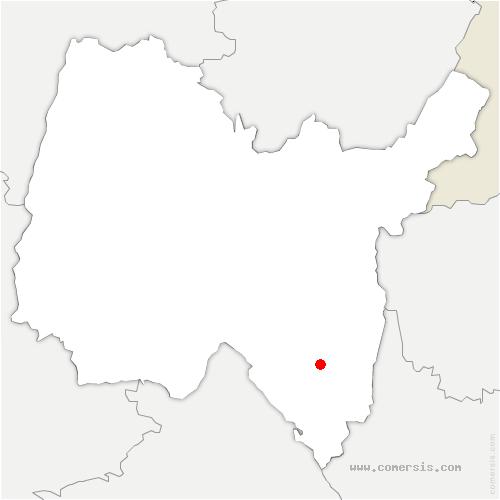 carte de localisation de Rossillon