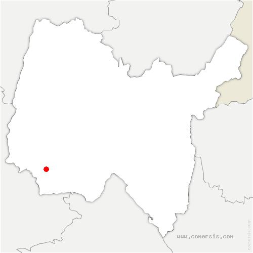 carte de localisation de Saint-André-de-Corcy