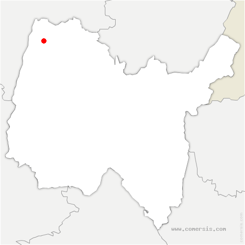 carte de localisation de Saint-Bénigne