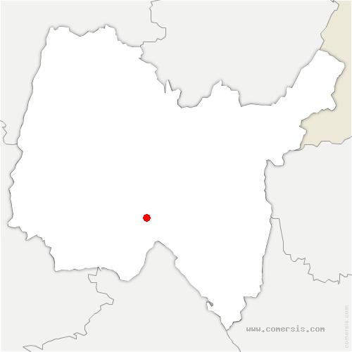 carte de localisation de Saint-Denis-en-Bugey