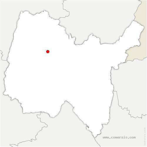 carte de localisation de Saint-Denis-lès-Bourg