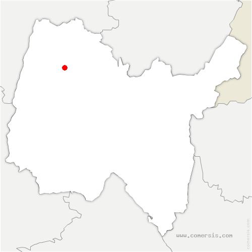 carte de localisation de Saint-Didier-d'Aussiat
