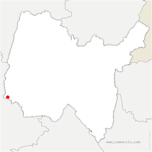 carte de localisation de Saint-Didier-de-Formans