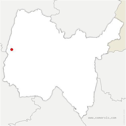 carte de localisation de Saint-Didier-sur-Chalaronne
