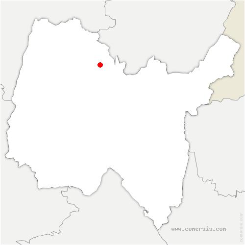 carte de localisation de Saint-Étienne-du-Bois
